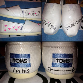 Wedding / Honeymoon / Just Married Custom TOMS