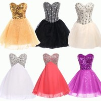 MINI HOMECOMING Short Prom Dresses Cocktail Ball Evening Party Dress Graduation