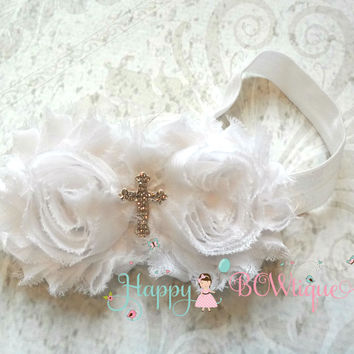 White Cross Headband