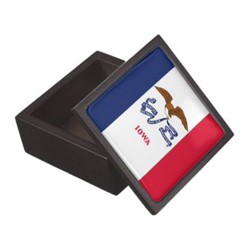 Iowa State Flag Premium Gift Box