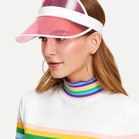 Cool 90s vibes Summer sun clear color visor hat