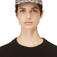 Kenzo Black And White Multi-logo Cap
