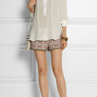 Talitha - Pia embroidered cotton shorts