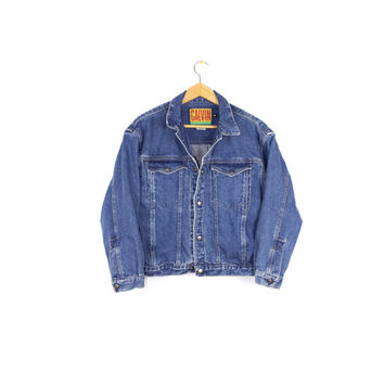 80s CALVIN KLEIN denim jacket - vintage early 1980s - medium