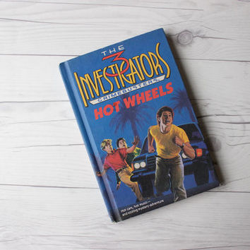 Vintage Children's Book | The 3 Investigators Crimebusters Hot Wheels by William Arden | Hardcover Book | Just for Boys