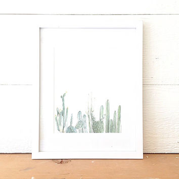Vertical Cactus Print - cactus painting - cacti - cactus watercolor - home decor painting - southwestern painting - greenery - cacti art