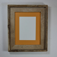 8x10 picture frame with 5x7 mat handmade in the USA from rustic reclaimed wood