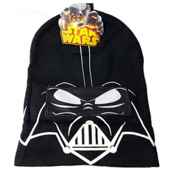 Winter Hats Star Wars Darth Vader Knitted Casual Hat For Women Men Kid Cap Hip Hop Gorro Masculino Bones Gorras Skullies Beanies