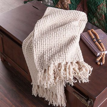Basketweave Chenille Throw | Throws & Blankets