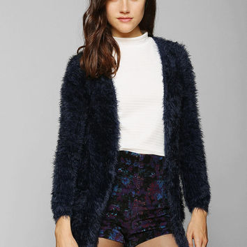 Glamorous Fuzzy Open-Front Cardigan - Urban Outfitters