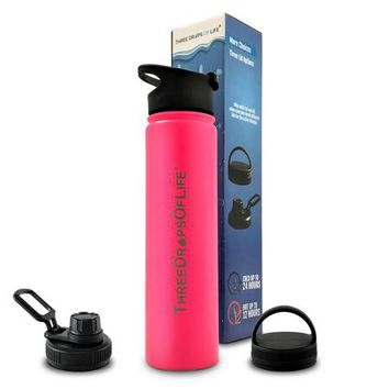 Double Wall Insulated Water Bottles - Stainless Steel