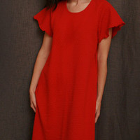 Cherry Red SS 3/4 Gown Dot Collection | Simple Pleasures, Inc.