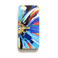 iPhone 5 Case Flower Pattern iPhone 5 s Cover Geometric Petals iPhone Hard Cover Abstract Painting Phone 5 Back Cover  Colorful 2319