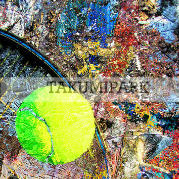 Colorful Tennis Decor,  Photo Art Print, Sports Wall Decor, Home Decor, Gift Idea For Tennis Player, Tennis Pictures Room Decor, Wall Art