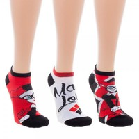 Harley Quinn Ankle Socks, Set of 3