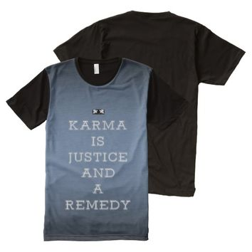 Justice Quote by Kat Worth Men's All-Over-Print T-Shirt