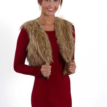 Jack by BB Dakota Azza Cropped Faux Fur Vest JF31441