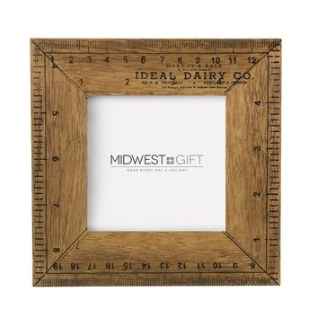 Ruler Picture Frame 4x4""