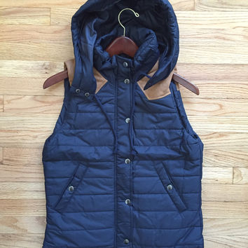 Cozy Trails Navy Puffer Vest