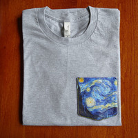 "Vincent Van Gogh ""Starry Night"" Pocket Shirts"