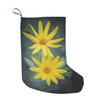 Two yellow flowers of Jerusalem artichoke Small Christmas Stocking