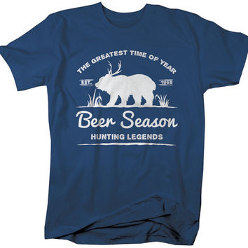 Beer Season Hipster T-Shirt Deer Plus Deer Shirts Hunting Legends Tee Gift Idea
