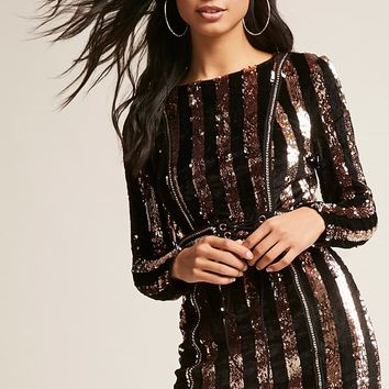 Metallic Sequin Velvet Dress