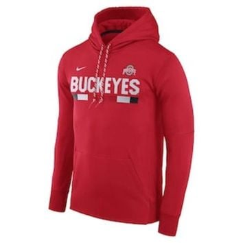 CREY7GX Men's Nike Ohio State Buckeyes Therma-FIT Hoodie | null