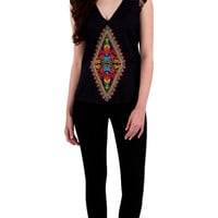 Plenty by Tracy Reese Embroidered V Neck
