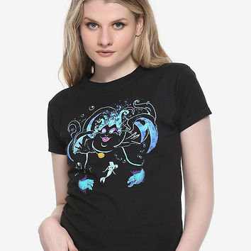 Disney The Little Mermaid Ursula Watercolor Girls T-Shirt