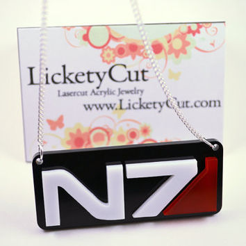 Mass Effect N7 Necklace - Laser Cut Acrylic
