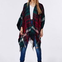Missguided - Check Blanket Wrap Multi