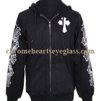 Chrome Hearts White Leather Cross Hoodie Black [White Leather Cross Hoodie Black] - $176.99 : Chrome hearts online shop:chrome hearts jewelry 2012 collection!