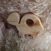 Turtle Wooden Baby Teether, Wood Teething