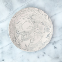 Stone Ebru Light Marble Ceramic Dinner Plate