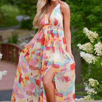 Walking On Air Maxi Dress - Multi