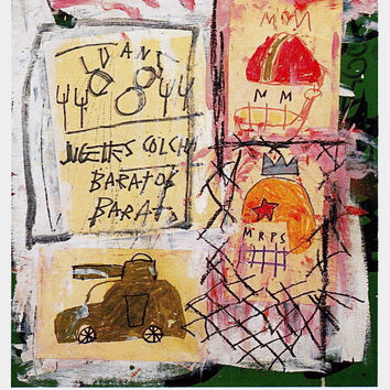 Untitled (1981), Exhibition Poster, Jean-Michel Basquiat