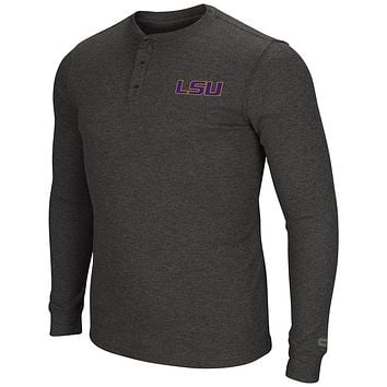 LSU Tigers Men's Long Sleeve Blended Thermal 3 Button Shirt