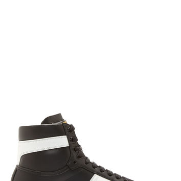 Saint Laurent Black Leather Court Classic High-top Sneakers