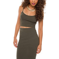 Piece By Piece Skirt in Olive