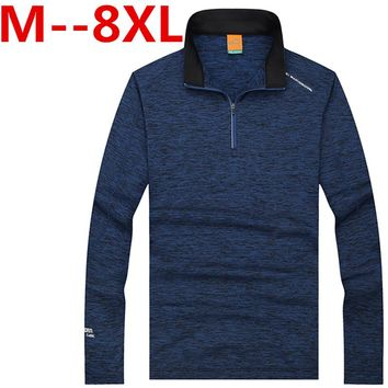 10XL 8XL 6XL Men's POLO Shirt 2017 New Arrival Spring Autumn Turn Down Collar Long Sleeve Letter Print Fashion Male Casual Shirt