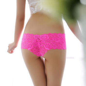 Sexy G String Women Lace Transprent Low Waist Thongs  Briefs panties underwear women