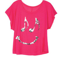 Music Note Smiley Tee