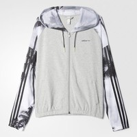 adidas Studio Palm Tree Hoodie - Grey | adidas US
