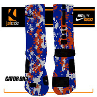 GATOR DIGI Custom Nike Elite Socks basketball florida gators orange blue digi camo