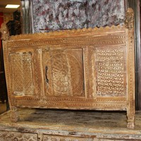 India Handcarved Antique Sideboard Console Chest Damchia Banjara Tribal Buffet Boutiquehotel 18c