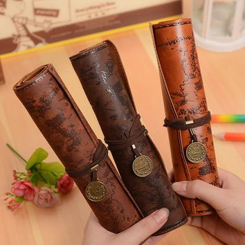 Vintage Luxury Rolled Treasure Map Pencil Cases