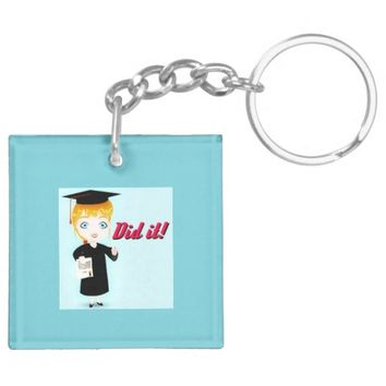 Did It! Graduation Time Keychain