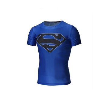 Superman Fitness running t shirt Basketball clothes Soccer Jersey = 1946694916