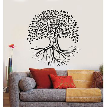 Vinyl Wall Decal Abstract Nature Tree Roots Leaves Forest Living Room Stickers Mural (g1169)